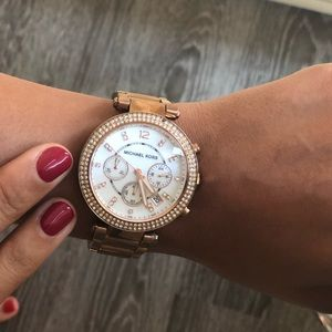Rose Gold Michael Kors Parker watch